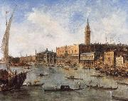 Francesco Guardi The Doge-s Palace and the Molo from the Basin of San Marco china oil painting reproduction